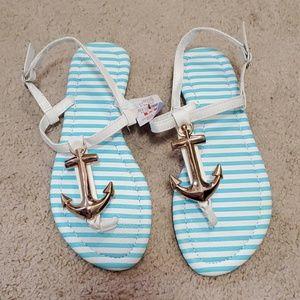 Claire's nautical sandals size 7